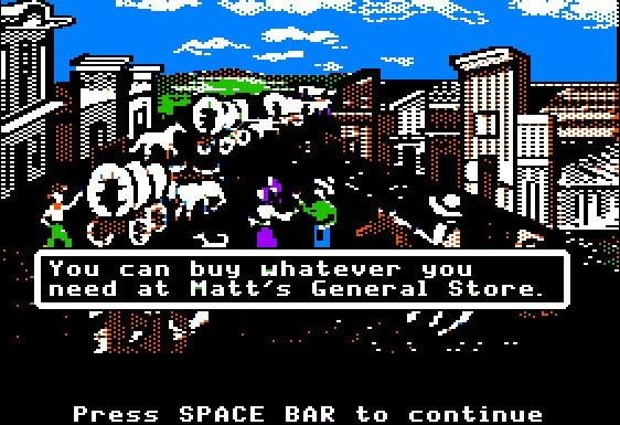 Picture from the Oregon Trail, Matt's General Store.