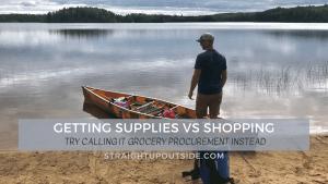 Getting Supplies vs. Shopping