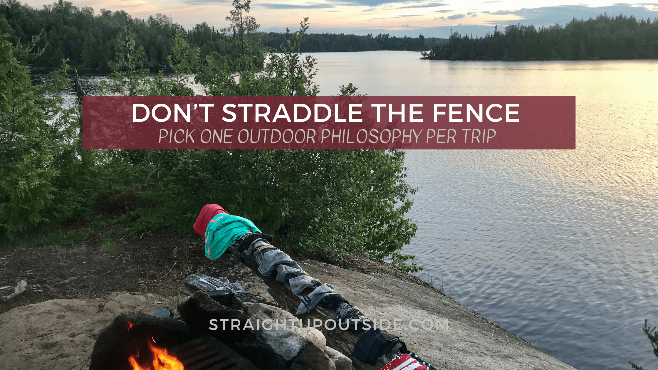 Don't Straddle the Fence